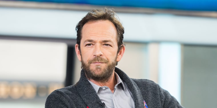 Image: Luke Perry on the Today Show, January 27, 2017.