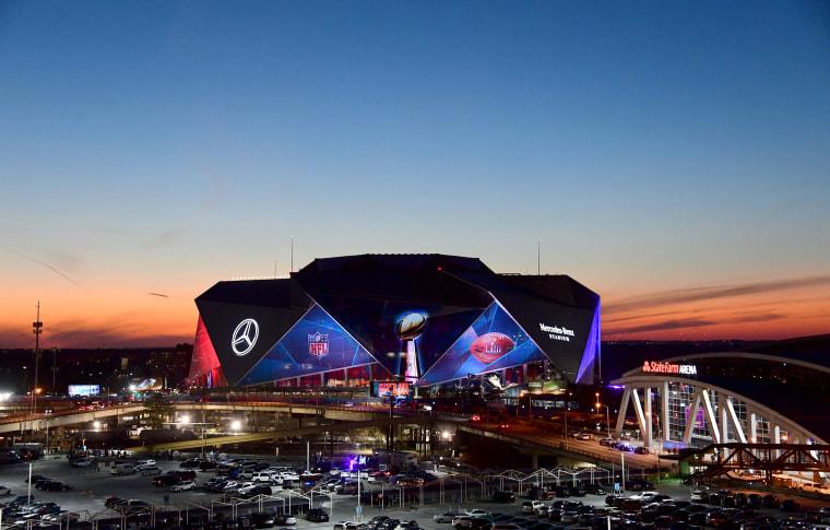 Image: The Mercedes-Benz Stadium ahead of Super Bowl LIII in Atlanta, Georgia, on Jan. 30, 2019.
