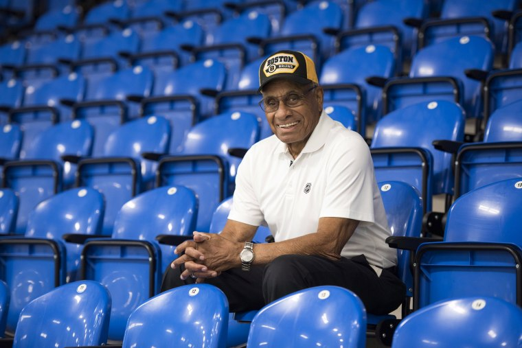 Image: Willie O'Ree, the first black player in the NHL, in New Brunswick, Canada, on June 22, 2018.