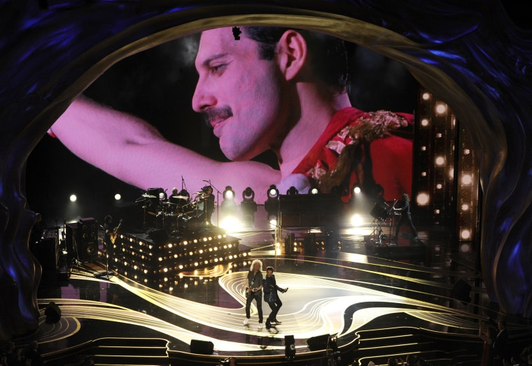 Image: Freddie Mercury, Brian May, Adam Lambert