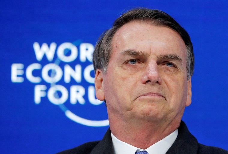 Image: Jair Bolsonaro, 2019 World Economic Forum (WEF) annual meeting in Davos