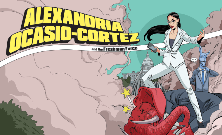 Image: Alexandria Ocasio-Cortez comic book