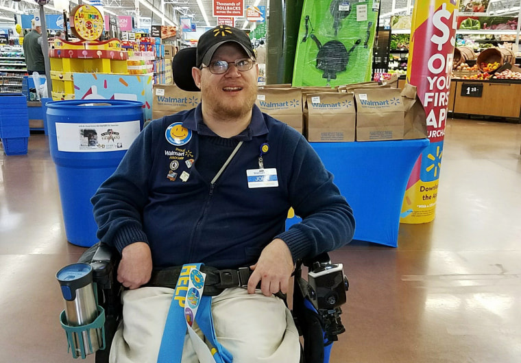 Image: Walmart greeter
