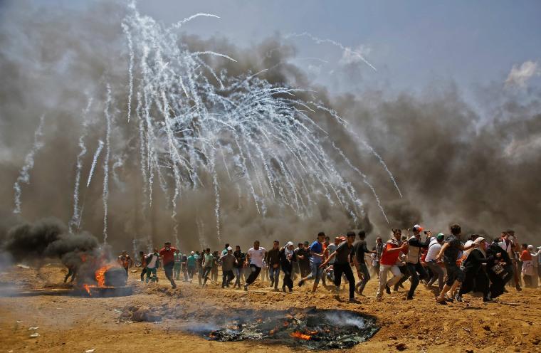 Image: TOPSHOT-PALESTINIAN-ISRAEL-US-CONFLICT-GAZA