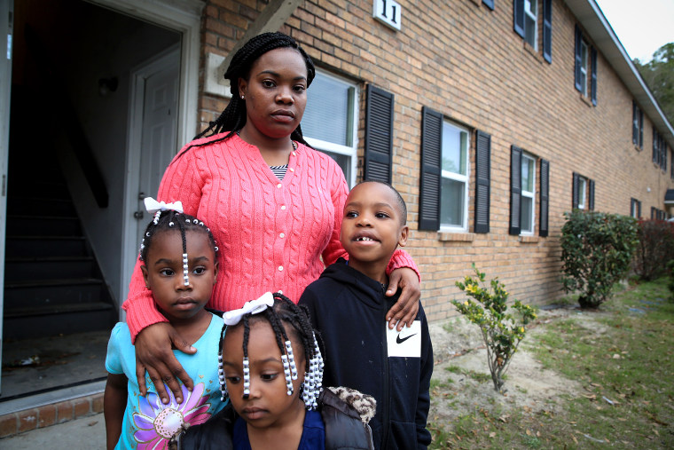 KinTerra Johnson and her three children were evacuated from their home in January after two of their neighbors were found dead of carbon monoxide poisoning.
