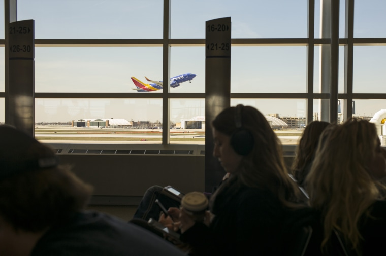 Southwest Airlines Plane Takes Off From Chicago's Midway International Airport