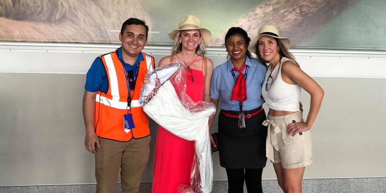 Southwest Airlines bridesmaid dress