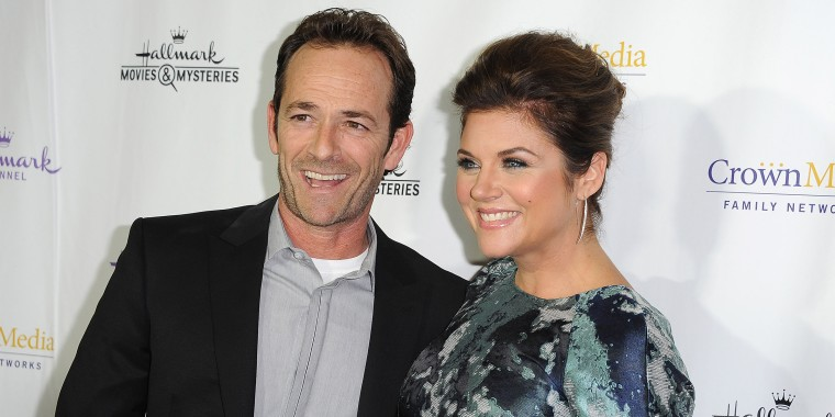 """Luke Perry and Tiffani Thiessen at Hallmark Channel's Annual Holiday Event Premiere Screening Of """"Northpole"""""""