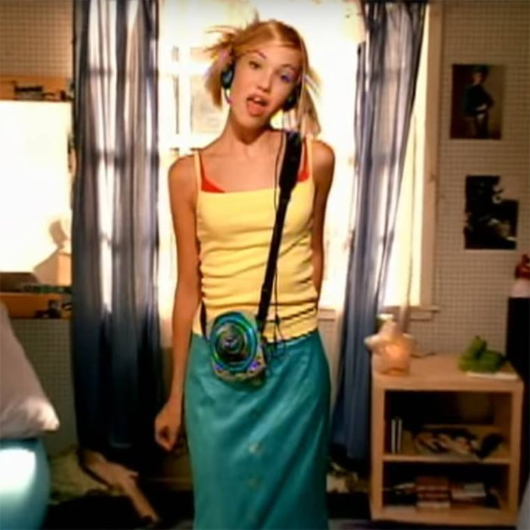 "Mandy Moore in the 1999 video for ""Candy."""