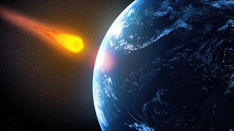 Image: An artist's concept of a near-Earth asteroid