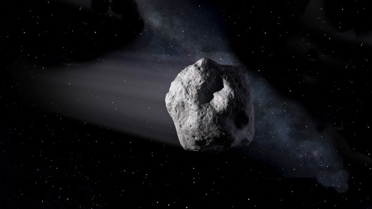 Image: Artist's concept of a near-Earth object.