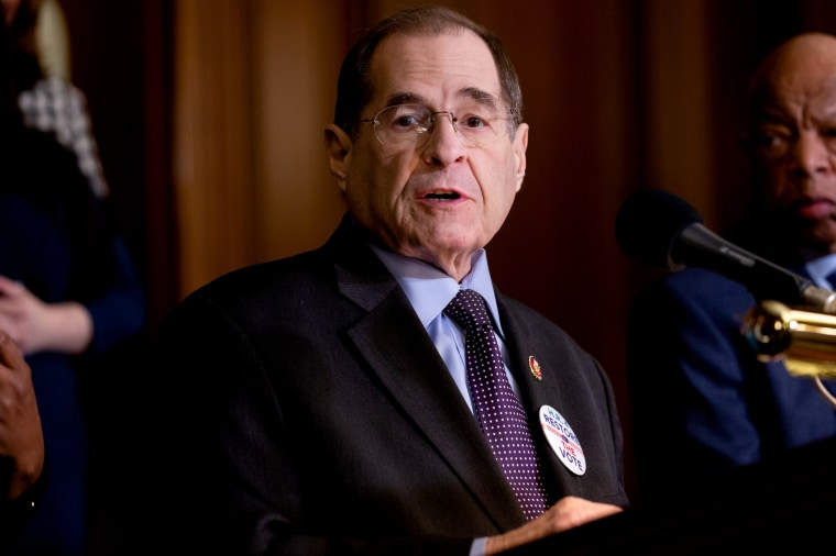 Image: Rep. Jerry Nadler, D-N.Y., speaks during a press conference on Capitol hill on Feb. 26, 2019.