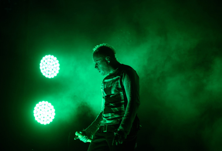 Keith Flint performs in Incheon, South Korea