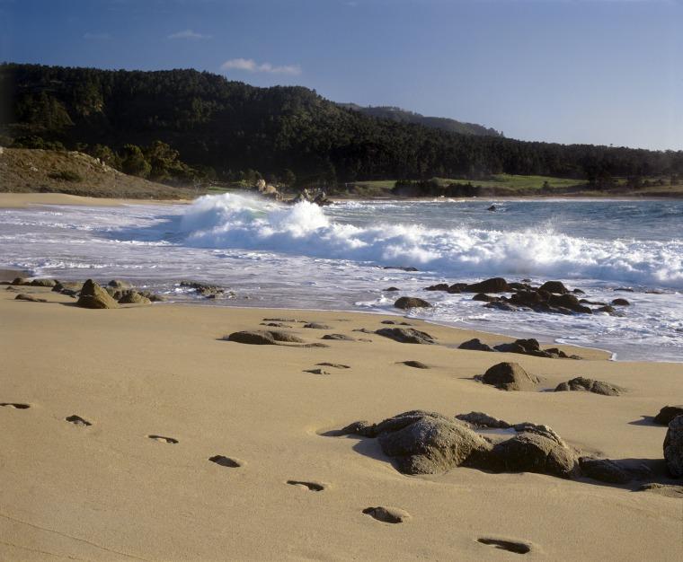 Image: Waves Crash On South Carmel River Beach Also Known As Monastery Beach, Carmel