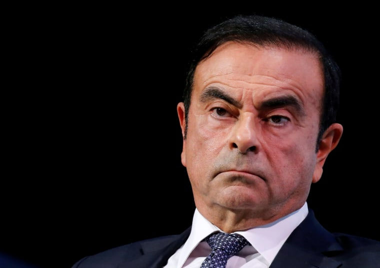 Image: FILE PHOTO - Carlos Ghosn, chairman and CEO of the Renault-Nissan-Mitsubishi Alliance, attends the Tomorrow In Motion event on the eve of press day at the Paris Auto Show, in Paris