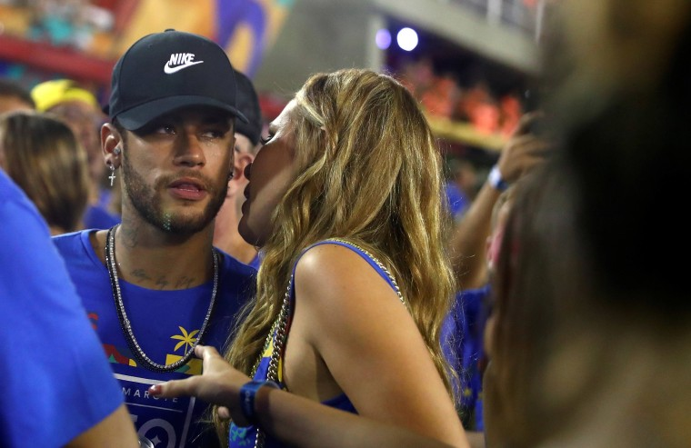 Image: Brazilian soccer player Neymar is seen during the second night of the Carnival parade at the Sambadrome in Rio de Janeiro