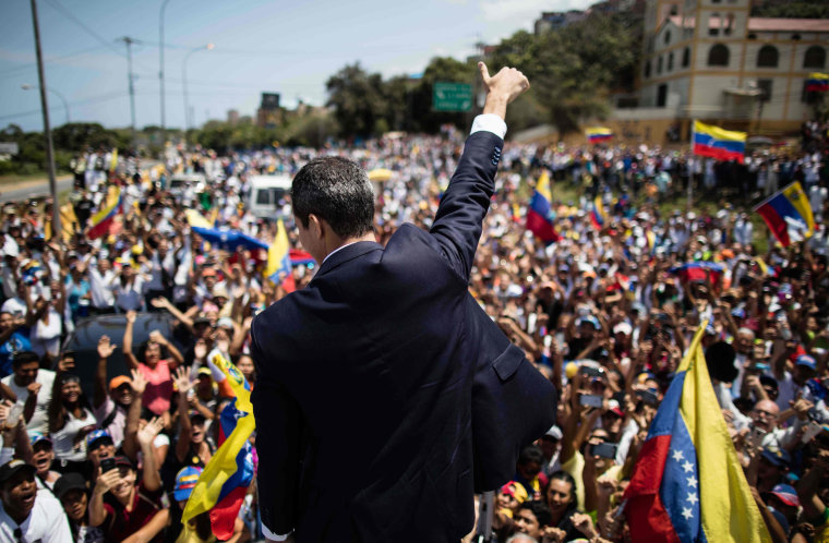Image: Venezuelan opposition leader Juan Guaido at a rally in Caracas on March 4,2019.
