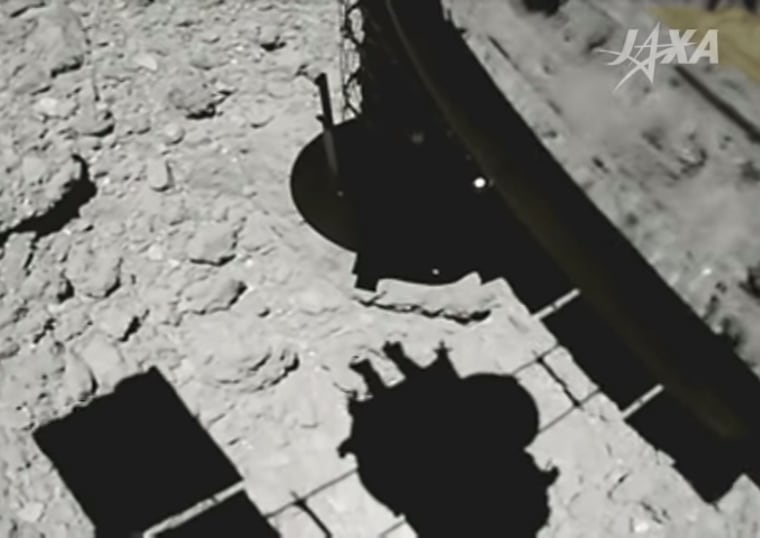 Hayabusa 2 space probe momentarily landed on the Ryugu asteroid on Feb. 22, 2019.