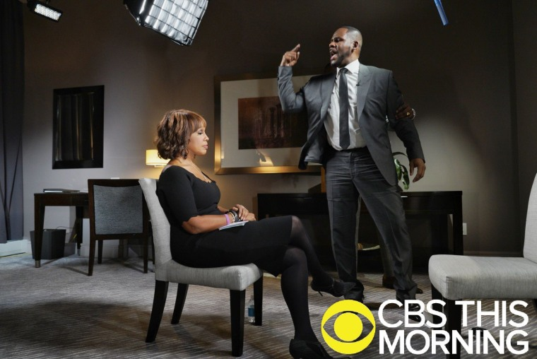 Image: Gayle King interviews R. Kelly in Chicago for CBS This Morning.