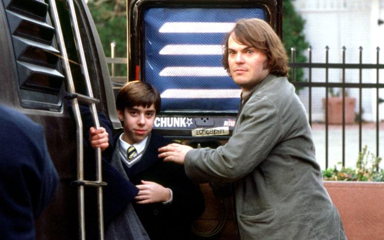 """Image: Joey Gados Jr. and Jack Black in the film """"School of Rock"""" in 2003."""