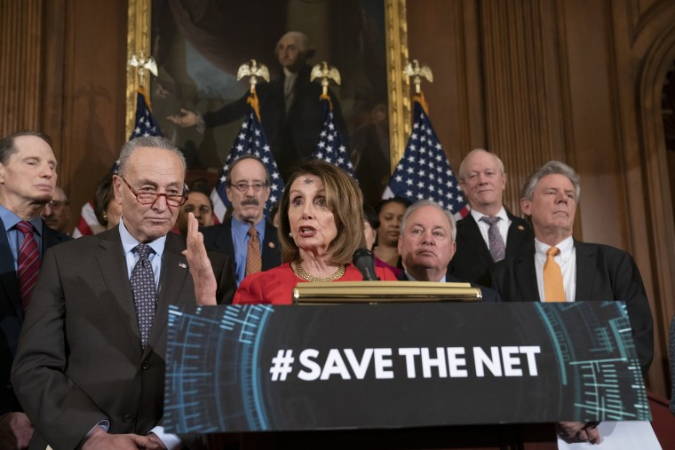 Image: Nancy Pelosi, Chuck Schumer, Mike Doyle, Frank Pallone