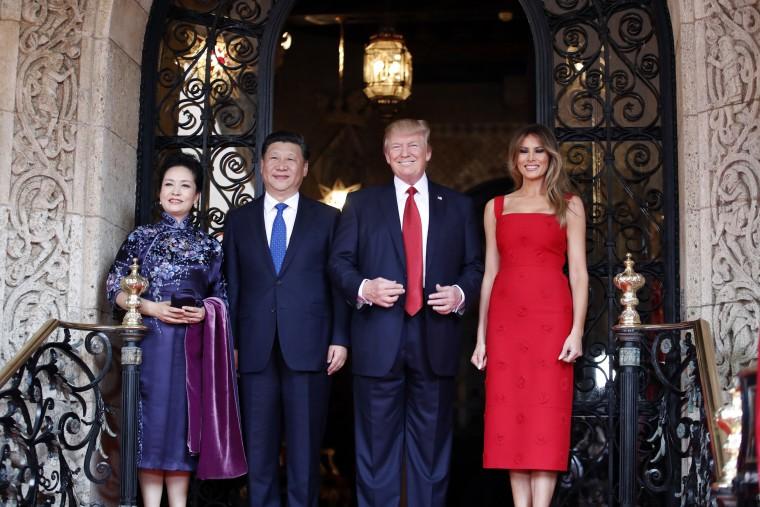 Donald Trump,Xi Jinping,Melania Trump,Peng Liyuan