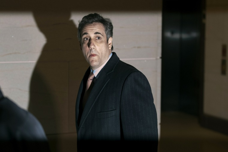 Image: Michael Cohen, former personal attorney to President Donald Trump, arrives at the Capitol to testify behind closed doors on March 6, 2019.