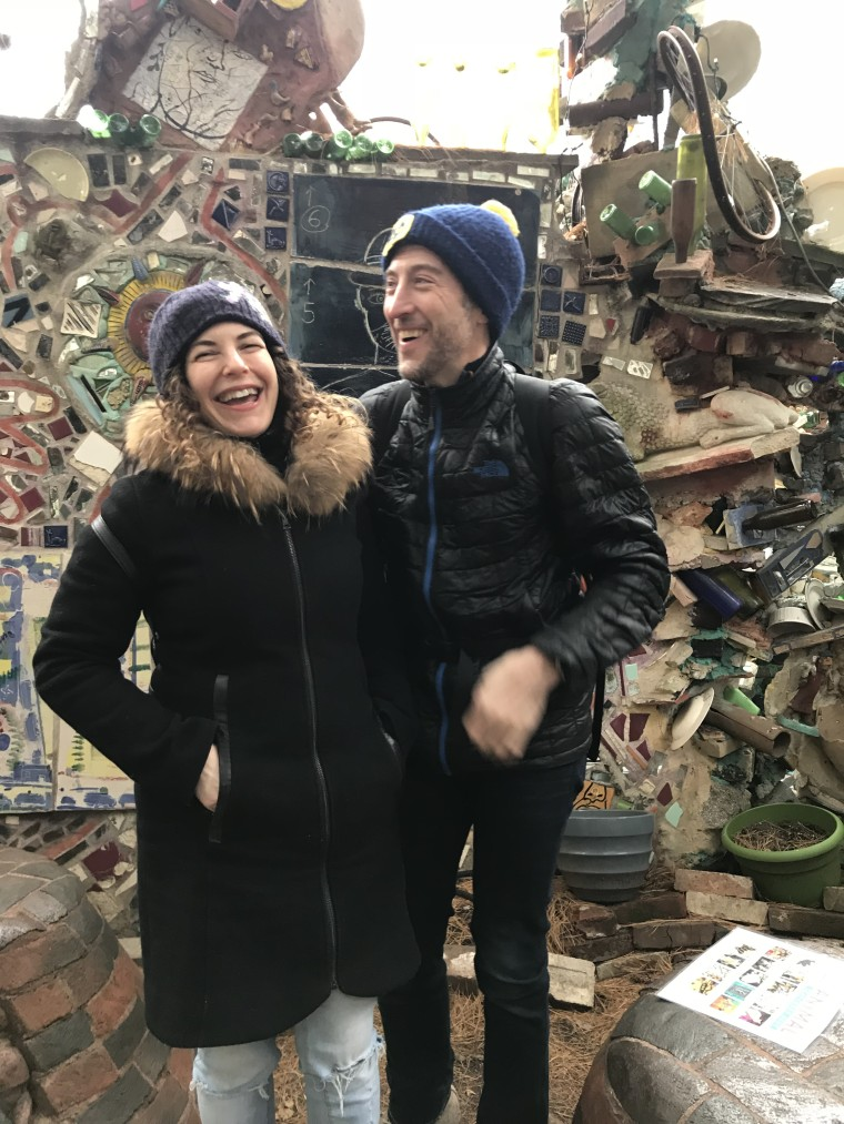 Koenig at Philadelphia Magic Gardens.