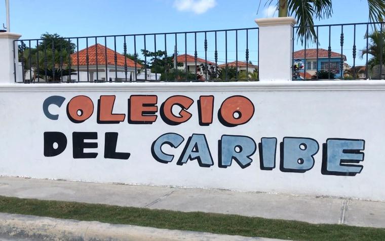 Image: The Colegio del Caribe private school where Hadmels DeFrias teaches English to children in Punta Cana, Dominican Republic.