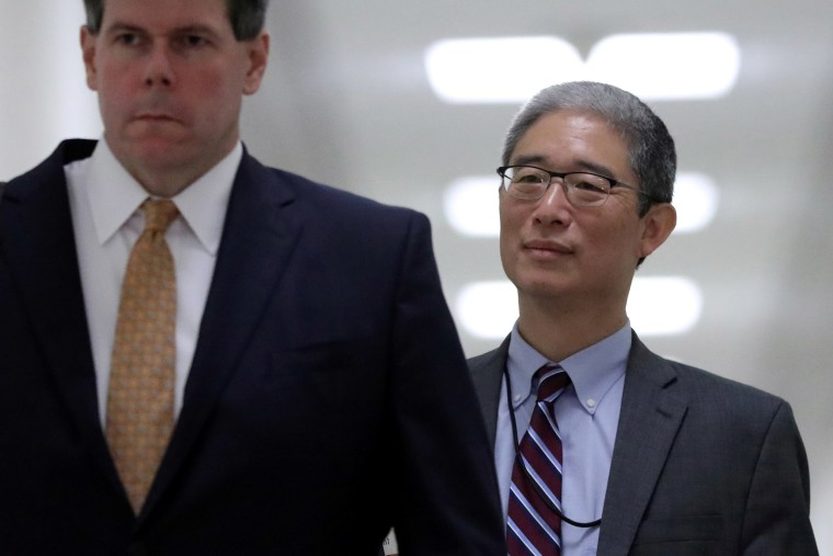 Image: Former associate deputy U.S. attorney general Bruce Ohr arrives to testify on Capitol Hill in Washington