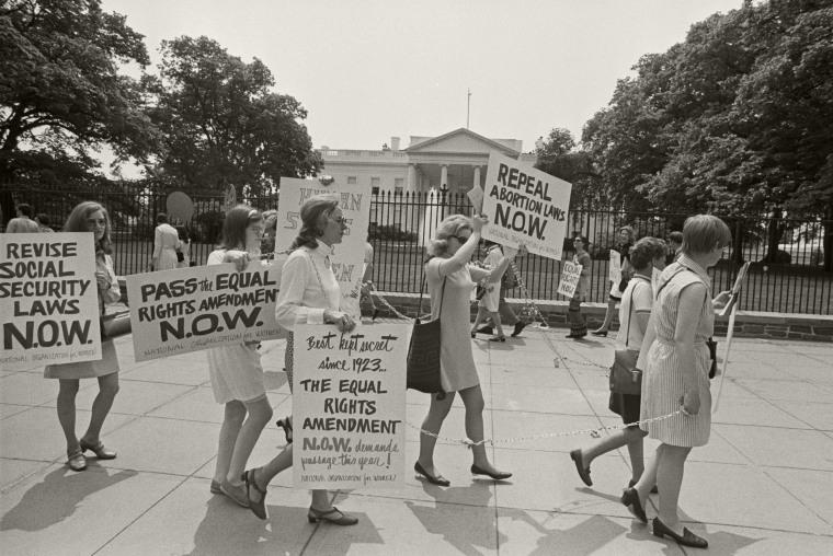 N.O.W. Members Picket the White House
