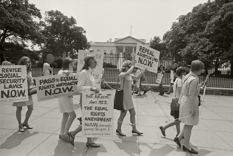 N.O.W. Members Picket the White House