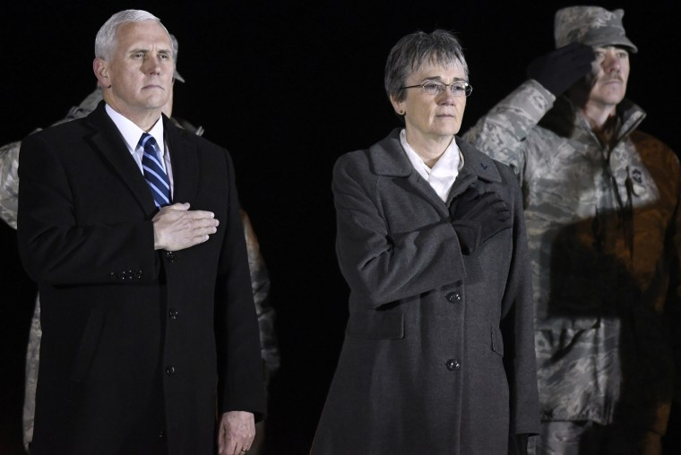 Mike Pence,Heather Wilson