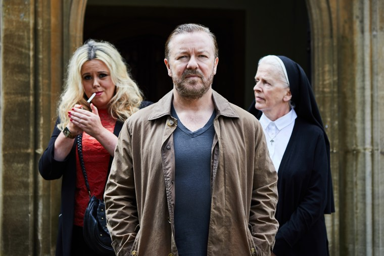 "Ricky Gervais stars in a new Netflix original series called ""After Life."""