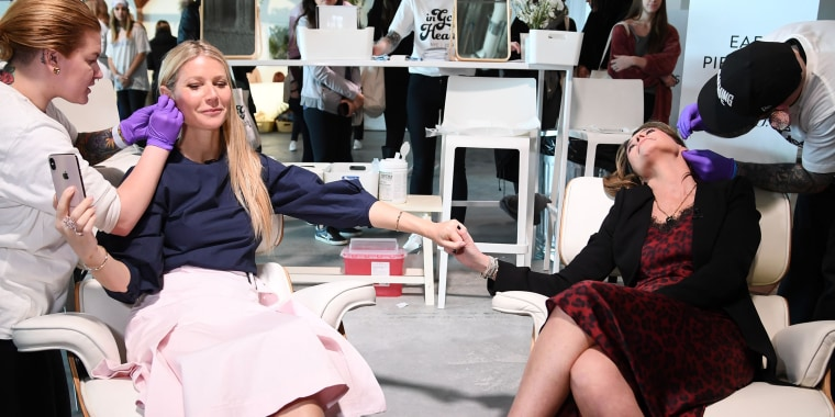 Gwyneth Paltrow and Savannah Guthrie, In Goop Health Summit New York 2019