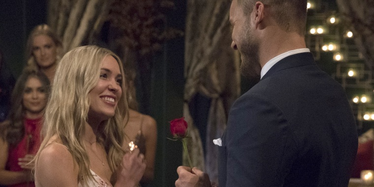 "Colton Underwood and Cassie Randolph on ""The Bachelor"""