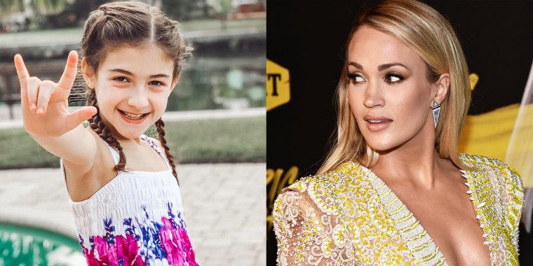Savannah Dahan says Carrie Underwood is her favorite singer.