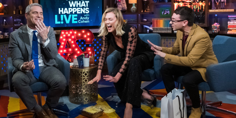 Karlie Kloss made Andy Cohen a cake — and it totally flopped