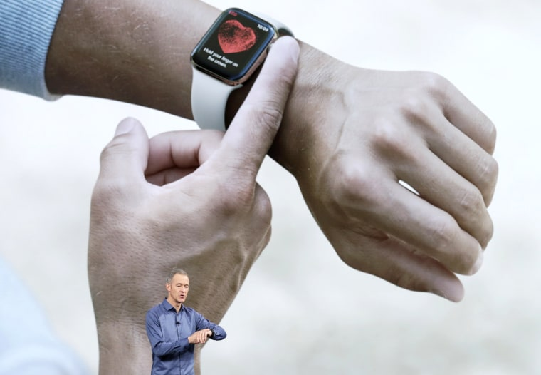 Image: Jeff Williams, Apple's chief operating officer, speaks about the Apple Watch Series 4