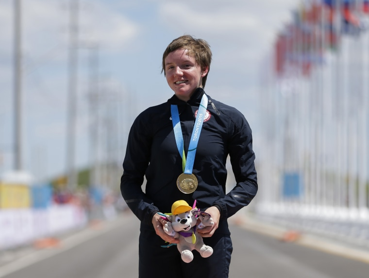 United States gold medalist Kelly Catlin