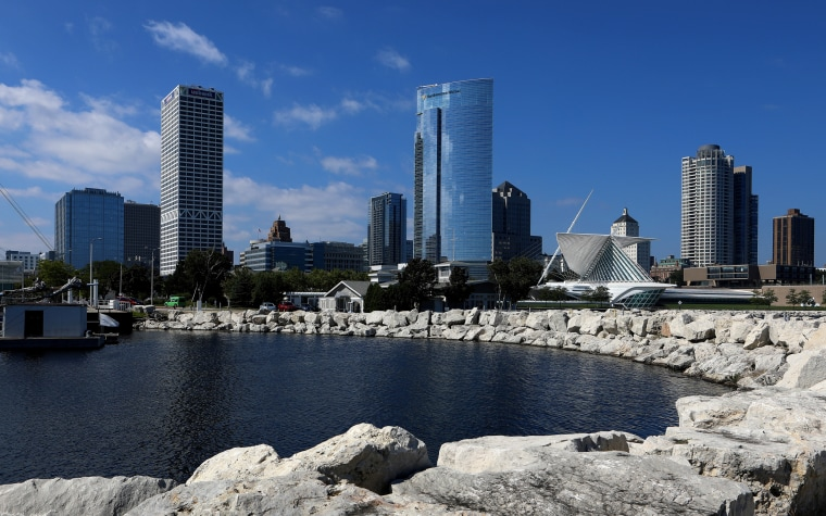 Image: The Milwaukee skyline in Wisconsin on Sept. 13, 2018.