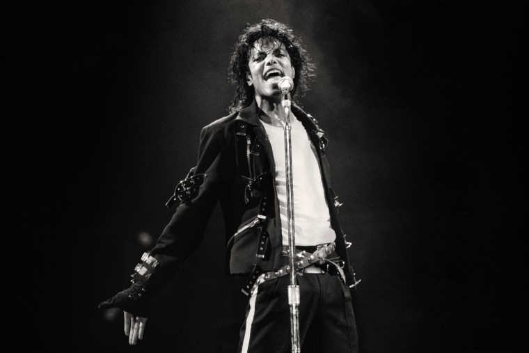Image: Michael Jackson performs in 1988.