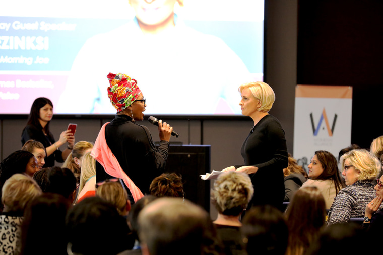 Mika Brzezinski spoke to members of the Women's Alliance of Fiat Chrysler Automobiles in Detroit on Friday.