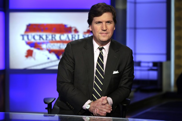 Image: Tucker Carlson at the Fox News Channel studio in New York on March 2, 2017.
