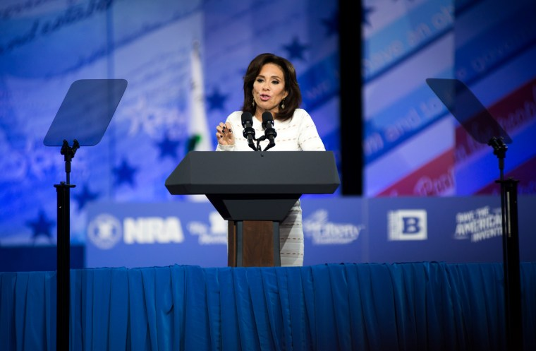 Image: Jeanine Pirro speaks during the Conservative Political Action Conference in Maryland on Feb. 23, 2017.