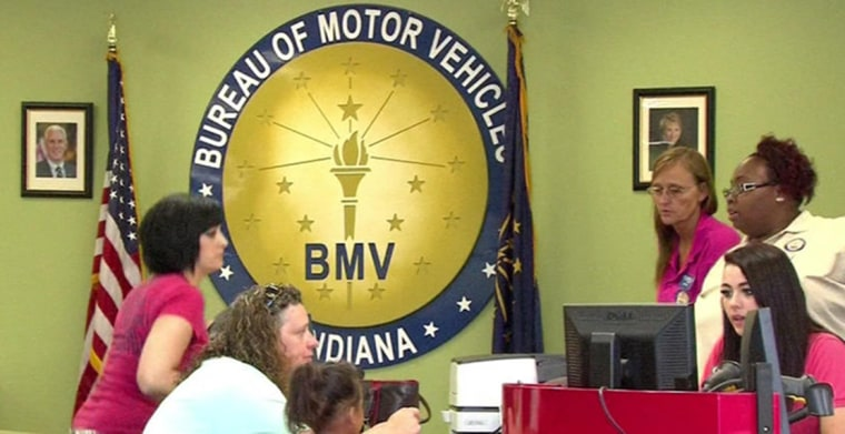 Image: A branch of the Indiana Bureau of Motor Vehicles.