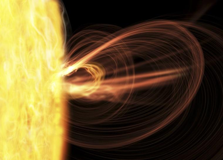 Image: Solar storm