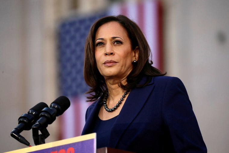 Image: Sen. Kamala Harris launches her campaign for president in Oakland, California, on Jan. 27, 2019.