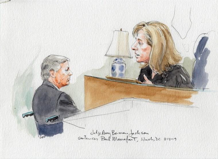Image: Judge Amy Berman Jackson sentences Paul Manafort on March 13, 2019.