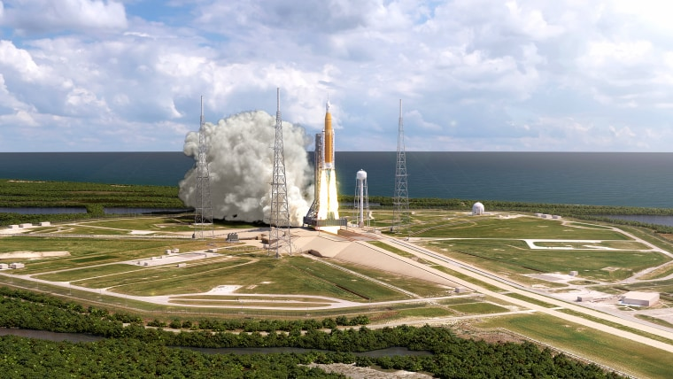 NASA's Space Launch System is designed to return astronauts to the moon and to carry astronauts to other deep-space destinations in the future.